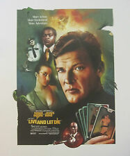 JAMES BOND LIVE AND LET DIE LTD ED LITHOGRAPH ROGER MOORE LTD EDITION