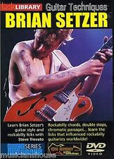 LICK LIBRARY GUITAR TECHNIQUES BRIAN SETZER Stray Cats Rockabilly Lesson DVD