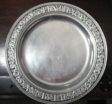 """Wilton Armetale Pewter Tenth Anniversary 11"""" Plate"""