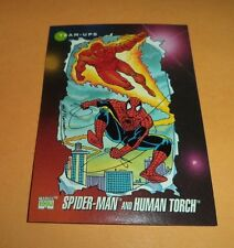 Spider-Man and Human Torch # 71 1992 Marvel Universe Series 3 Base Trading  Card