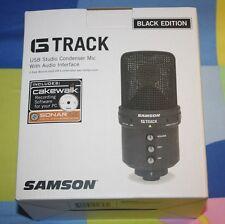 BRAND NEW Samson G-Track USB Recording Supercardioid Microphone 20Hz-16kHz Black