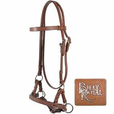 Padded Nose Leather Sidepull Bitless Bridle