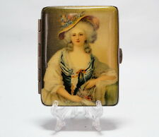 altes  Metall  Zigarettenetui  Feine Dame  Anfang XX- jh  cigarette case