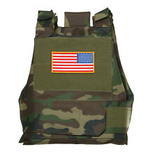 TACTICAL AIRSOFT PAINTBALL BODY ARMOR VEST WOODLAND CAMO-33695