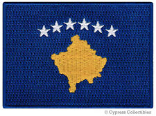 KOSOVO FLAG embroidered iron-on PATCH FORMER YUGOSLAVIA EMBLEM SERBIA