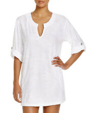 NEW J Valdi Tropical Terry Tunic Swim Cover Up White size XL XLarge