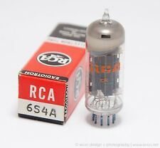(1) NOS RCA 6S4A VACUUM TUBE NEW IN BOX TESTED & GUARANTEED STRONG