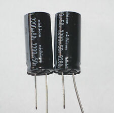 2200uF 50V Radial Nichicon Electrolytic capacitors, 2 pcs, New. USA SELLER