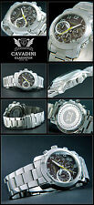 GLADIATOR FROM THE HOME CAVADINI MEN'S CHRONOGRAPH WATCH PURE LUXURY 10 BAR