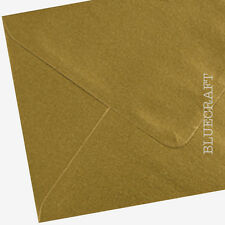 100 x A6 C6 Gold Metallic Premium Envelopes Cardmaking