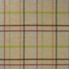 100% Wool Abraham Moon Upholstery Fabric - MultiCheck. 8 Colours! RRP £49.95 p/m