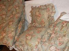 RALPH LAUREN CHARLOTTE FLORAL FULL/QUEEN COMFORTER BEDSKIRT THROW PILLOWS SET