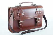 Leather Top Case Shoulder Laptop Messenger Bag Briefcase Vespa Vintage Brown
