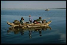 142089 Peruvians Traveling By Reed Boats On Lake Titicaca A4 Photo Print