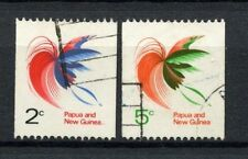 Papua New Guinea 1969 SG#162a-163 Birds Of Paradise Used Set #A20807
