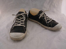 Josef Seibel Women 40 9.5 Black Leather Lace Up Oxford Shoes Sneakers