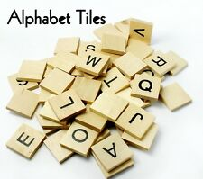 "ALPHABET TILES ~ 3/4"" ~ Wood Cutout Craft Shape {Set of 60 Letters } ~ by PLD"