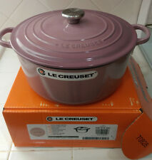 *RARE* Le Creuset Mauve Pink 5.5 Qt Round French Dutch Oven New Box Japan Import