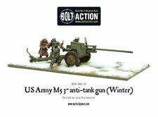 "WARLORD GAMES Bolt ACTION ww2 US Army m5 3"" cannone anticarro GRATIS UK P & P"
