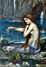 John William Waterhouse la sirena stampa montata SIRENA Marittimo