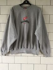 MENS TRASHED VINTAGE RETRO GREY NIKE HOCKEY CLUB SWEATSHIRT SWEATER SIZE LARGE