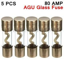 5pcs Car Audio Amp Amplifier 80 A AMP 80AMP AGU Gold Plated Glass Fuse NEW