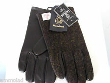 New + Tags High Quality Harris Tweed Wool & Leather Next Gloves - Outer Hebrides