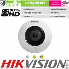 HIKVISION DS-2CD2942F 4MP PANORAMIC VIRTUAL PTZ 1.6MM LENS POE FISHEYE Camera