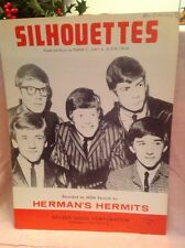 Herman's Hermits sheet music Silhouettes 1965 4 pages (VG shape)