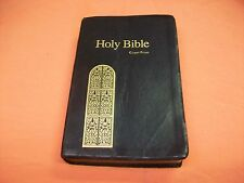 1990 (© 1976) Nelson King James Version Black Holy Bible [883C] in Giant Print