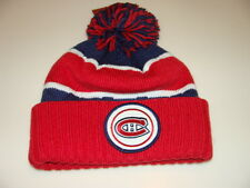 Montreal Canadiens Hockey Cap Hat Beanie Pom Toque Mitchell Ness Quilted Crown