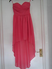 TOPSHOP beautiful pink chiffon dress by Rare. BNWT size 8 RRP £65 grab a bargain