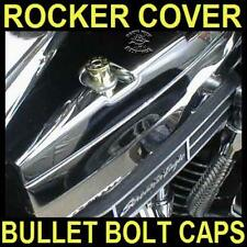 NICKEL BULLET BOLT CAPS for HARLEY TWIN CAM ROCKER BOX BOLTS (SET OF 4)      b/u