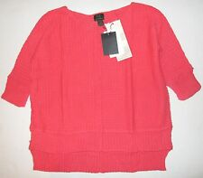 FRESH PRODUCE Medium Large Melon CORAL Harbor Pullover Sweater Top $125 NWT M/L