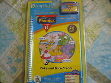 Leap Frog Leap Pad Phonics program Lesson 6 NEW in pkg Cake and Mice cream