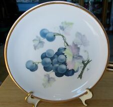 """Vintage C. T. Altwasser Saucer 7 3/8"""" ~ Germany ~ Hand painted Grape Design"""