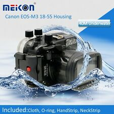 40M Waterproof Underwater Camera Housing Hard Case for Canon EOS M3 18-55mm Lens