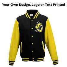 Varsity College Baseball Letterman Jacket Personalised Print Custom Print