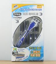 Genuine Schick Hydro 3 package ( 1 Razor + 1 Blades + 8 Refill Cartridges )