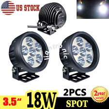 """2X 3.5"""" inch 18W LED Driving Light Cree Beam Spot Round Work Lamp SUV Offroad"""