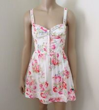 NEW Abercrombie Womens Floral Lace Summer Dress Size XS Cream