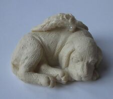 dd sleeping dog puppy Pawsitive inspiration Angel for loss of loved pet Figurine