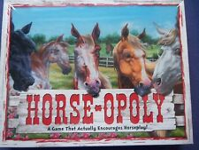 HORSE -OPOLY Board Game Version 2 NIB Property Game FREE EXPEDITED Ship USA