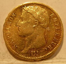 France 1813L Gold 20 Francs Circulated Napoleon 1 Bayonne Mint