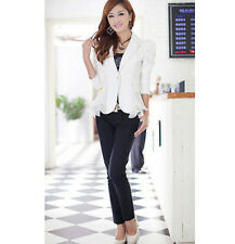 Womens Business Candy Suit Office Long Sleeve Blazer Jackets Coat Size S-6XL New