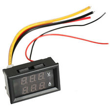 DC 0-100V Voltmeter Ammeter 10A Red LED Panel Amp Digital Volt Gauge YB27VA