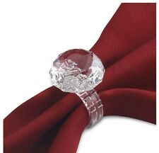 Set Of 4 Diamond Clear Ring Napkin Ring Serviette Holder Wedding Dinner Favor