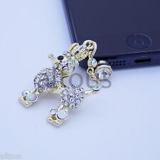 ANTI DUST PLUG CHARM CROWN POODLE DOG FOR APPLE SAMSUNG HTC MOTOROLA HUAWEI ZTE