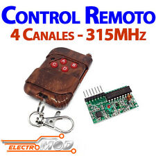 Kit Control Remoto 315 Mhz RF 4 canales ways Wireless Remote Arduino 2262 2272