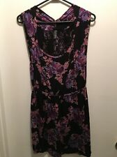 FREE PEOPLE All Over Purple Floral Printed DRESS S/P. (S)